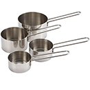 MEASURING CUP SET, 4 PC, STAINLESS STEEL
