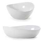 OSSLO MELAMINE WHITE SERVING BOWLS