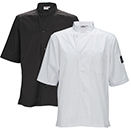 MENS TAPERED  FIT CHEF SHIRT, VENTILATED
