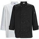 MEN'S CHEF JACKET, TAPERED FIT, BLACK