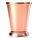 12 OZ COPPERPLATED MINT JULEP CUP WITH BEADED EDGES
