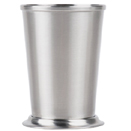 BRUSH FINISH STAINLESS MINT JULEP CUPS
