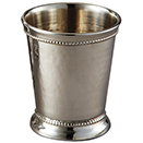 MINT JULEP CUPS, HAMMERED FINISH, STAINLESS STEEL
