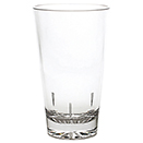16 OZ MIXING GLASS, STARBURST BASE, POLYCARBONATE, CLEAR