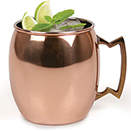 MULE MUG, 16 OZ., COPPER FINISH WITH BRASS HANDLE