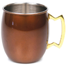 20 OZ. MULE MUG, BROWN FINISH
