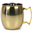 20 OZ. MULE MUG, GOLD FINISH