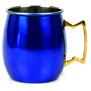 20 OZ. MULE MUG, BLUE FINISH
