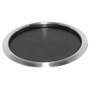 NON-SLIP TRAY WITH RUBBER INSERT, 18/8 STAINLESS