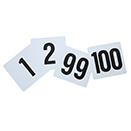 NUMBER CARDS, HEAVY PLASTIC - NUMBERS 1 THRU 100