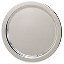 ROUND TRAYS WITH OG EDGE, SILVERPLATE