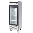 BOTTOM MOUNT ONE GLASS DOOR REFRIGERATOR, 22 CU. FT., 27