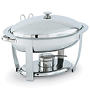 ORION® OVAL CHAFERS, LIFT OFF LID, STAINLESS