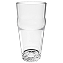 16 OZ ENGLISH PUB GLASS, POLYCARBONATE, CLEAR