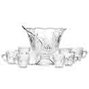 DUBLIN CUT CRYSTAL 10 PC PUNCH SET
