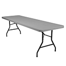 RECTANGULAR BANQUET PLASTIC BLOW MOLD FOLDING TABLES,  POLY TOP