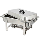 RECTANGULAR CHAFER, LIFT OFF LID, STAINLESS - 8 QT. CHAFER W/ WELDED LEG CONSTRUCTION, 24.6