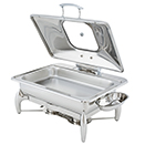 IDOL™ RECTANGULAR CHAFERS, LIFT OFF LID, STAINLESS
