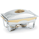 PANACEA™ FULL SIZE CHAFER, 24K GOLD ACCENTS, LIFT OFF LID, STAINLESS