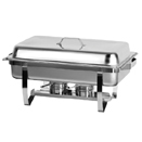 8 QT RECTANGULAR CHAFING DISH WITH LIFT OFF LID, STAINLESS STEEL