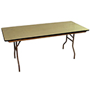 CONFERENCE FOLDING TABLES, RECTANGULAR, PLYWOOD TOP