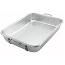 ROASTING PAN WITH STRAPS, HEAVY-DUTY 10 GAUGE ALUMINUM