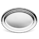 ROLLED EDGE OVAL TRAYS, 18/10 STAINLESS STEEL