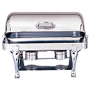 OBLONG ROLL TOP CHAFERS, FULL SIZE, STAINLESS
