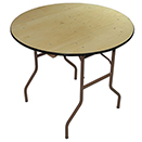 ROUND BANQUET FOLDING TABLES, PLYWOOD TOP