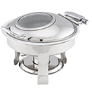 CHAMPION SERIERS™ ROUND CHAFER WITH GLASS LID, STAINLESS