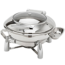 EVOLUTION ROUND CHAFER, HINGED LID, STAINLESS