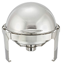 MADISON ROUND ROLL TOP CHAFER, STAINLESS
