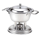 ROUND MINI SAUCE CHAFER, LIFT OFF LID, 18/10 STAINLESS