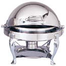 6 QT. ROUND ROLL TOP CHAFER