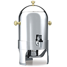 ROYAL DANISN™ COFFEE URN,  GOLD KNOBS, 18/10 STAINLESS