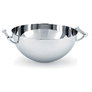 SERVING BOWL WITH HANDLES, STAINLESS