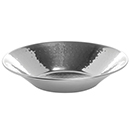 SERVING BOWLS, ROUND, HAMMERED FINISH STAINLESS