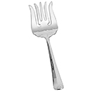 BAGUETTE DESIGN HANDLE SERVING FORK, SILVERPLATE