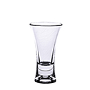 2 OZ SHOT GLASS, FLAIR DESIGN, HEAVY BASE,POLYCARBONATE, CLEAR