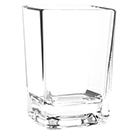 2.5 OZ SHOT GLASS, SQUARE, HEAVY BASE, POLYCARBONATE, CLEAR
