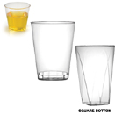 GLASSES, HEAVY WEIGHT, DISPOSABLE PLASTIC - 10 OZ TUMBLER, 500 EACH