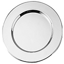 SILVERPLATED CHARGER PLATES, SET/4
