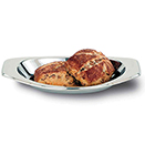 SOPRANO™ OVAL ROLL TRAY, 18/10 STAINLESS STEEL