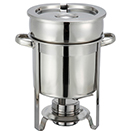 SOUP MARMITE CHAFERS, LIFT OFF LID, STAINLESS STEEL