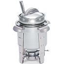 MAXIMILLIAN STEEL™ SOUP MARMITE CHAFERS, LIFT OFF LID, STAINLESS