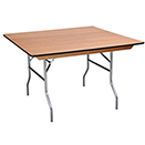 SQUARE BANQUET FOLDINF TABLES, PLYWOOD TOP
