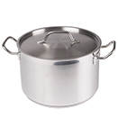 STOCK POT WITH COVER, STAINLESS STEEL - 8 QT., 9 1/2