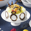 SUPER WHITE PORCELAIN CAKE STANDS