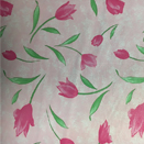 FLANNEL BACK TABLECLOTH, DESIGNER FLORAL ROSE, 54