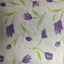 FLANNEL BACK TABLECLOTH, DESIGNER FLORAL ORCHID, 54